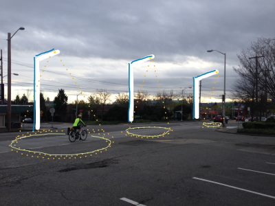 Smart Sensor-Enabled Bike Lane Lighting