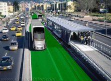 Sweden is working on Rapid Transit solutions that don't create more pavement. Green and environmentally friendly tracks!!!