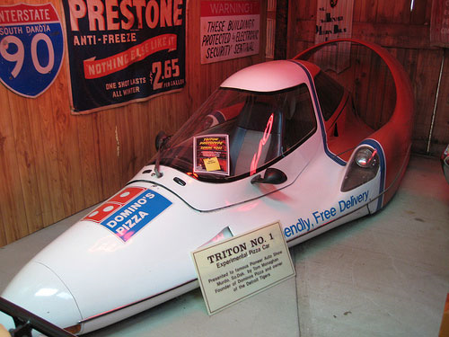 This was a Dominos Pizza concept delivery car in the early 1980's. Never stop believing people! #bringitback #technicity #pizza