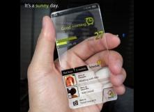 Plexiglas back-lit phones. No more broken iPhones. Yes!