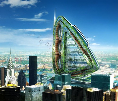 Vertical, urban farms. That's interesting.