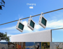 Solar powered boxes that hang-out all day and can be used to run your electricity at night.