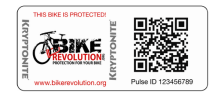 Using QR codes on bike helmets that have cyclist information incase of accident