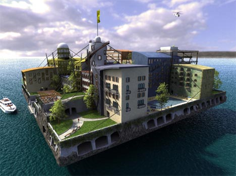 Futuristic City Block