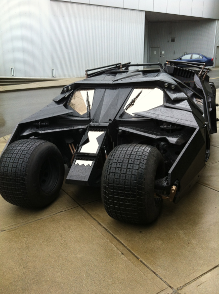 I'm completely serious with the Batmobile. 