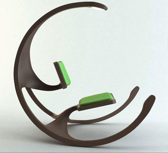 Really cool rocking chair idea.