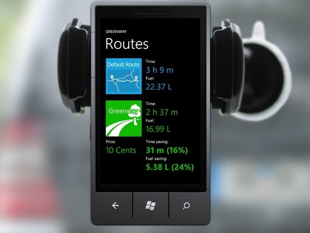 Traffic rerouting apps, such as Greenway and Waze - calculate the best route, speed up traffic flow and reduce CO2