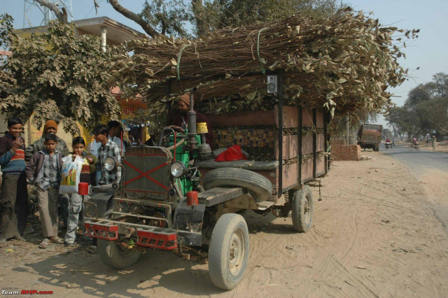 Technology used in Northern villages of India. Farmers used their agricultural irrigation pumps to convert into a vehicle.