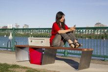 Solar-powered smart park benches charge your gear