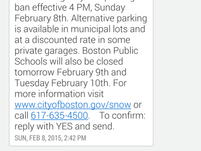 Boston uses sms text messages to alert citizens