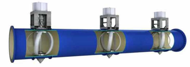 Portland (USA) introduces a new kind of water supply pipes to generate energy. Image source: http://www.lucidenergy.com