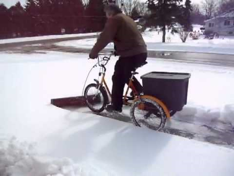 Most energy efficient way to plow snow.