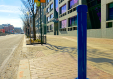 This is a bi-directional infrared pedestrian counter, installed in downtown Washington, DC, USA, part of a network.