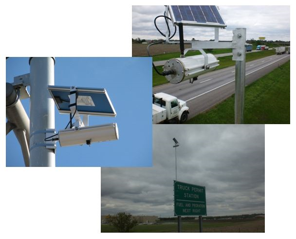 Traffic speed sensors