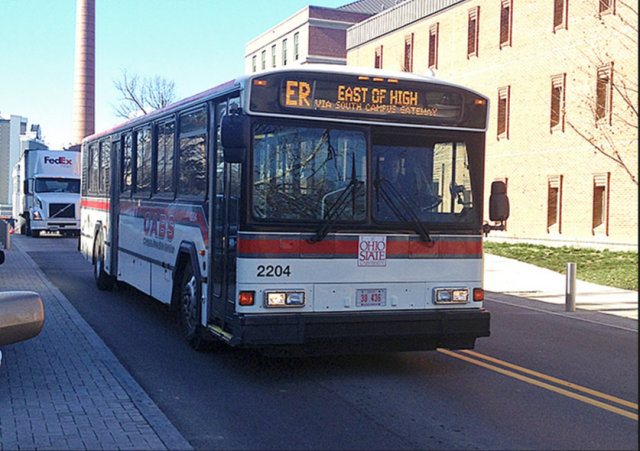 Ohio State University Transportation service uses sensors on buses to give students real time location data of their buses.
