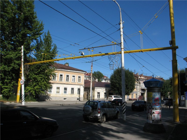 Speed camera on the main street of Saratov city, Russia