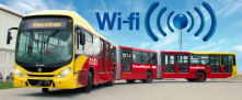 Source: Casona del Patio  22-10-2014. Plan your route in Bogotá's public service. Free Wi-fi in 10 stations and 5 portals.
