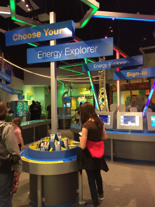 New exhibit at COSI, in Columbus Ohio, called Energy Explorers and it teaches with interaction about personal energy consumption