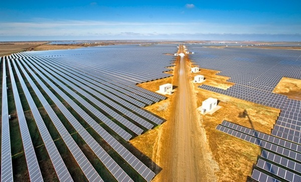 """This is a """"part"""" of a smart state - 105,56 МW solar power plant Perovo (reduce emissions of CO2 107,069 tons per year)"""