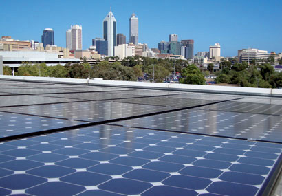 "Perth- one of Australia's solar cities. A program called ""Perth Solar City"" helped around 16,000 households become eco friendly"