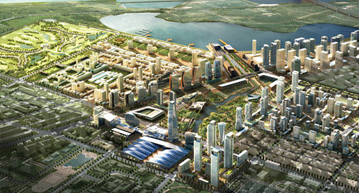Songdo International Business District is a new smart city or 'ubiquitous city' built from scratch in South Korea