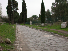 Roman and other cultures' advanced road technologies provided a reliable means to get foods to cities from the hinterland.