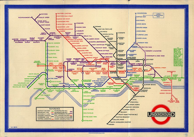 Actually - the map as much as the tube itself !