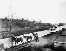 My city of Newark, Ohio, was part of a large canal system that carried goods back and forth from the Ohio River to Lake Erie.
