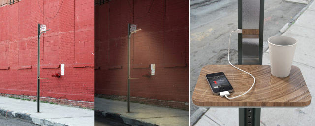 Solar street light with USB charging facility