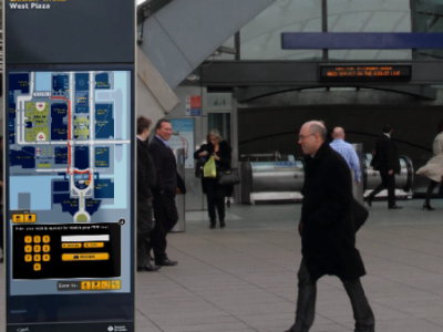 Interactive Wayfinding Signs