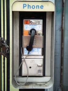 A payphone )
