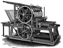 "The rotary printing press allowed for mass printing/distributio<wbr/><span class=""wbr""></span>n of newspapers, thus connecting people, communities, & cities"