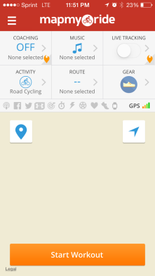 Mapmyride is a app that uses GPS tracking to monitor my speed, direction and distance. It also plays music and includes maps.