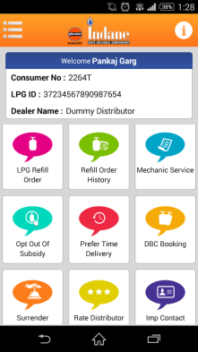 My LPG gas cylinder service app.