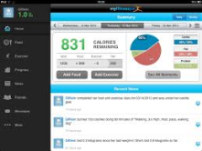 My Fitness Pal tracks calorie intake and exercise.