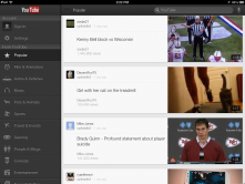 YouTube app is a great way to listen to music or view videos on your favorite topics.