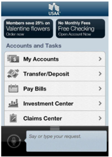 USAA Banking, to access financial information on the go!
