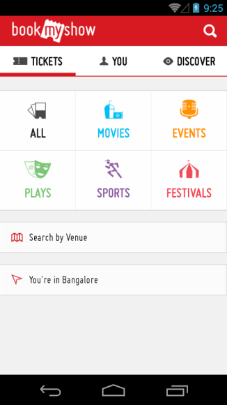 App can book and buy movie tickets online. check movie show timings, theater lists, read reviews & news. I use