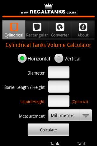I used this app for one of my project to calculate cylinder Tank Volume (horizontal & vertical)