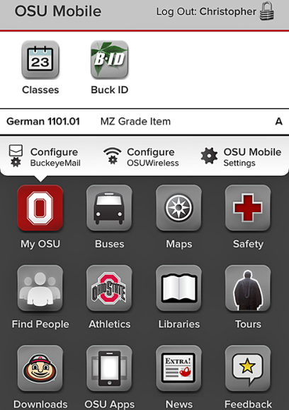 The OSU mobile app allows me to check grades, schedules, navigate campus and engage in other ways with OSU right on my phone!