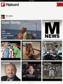 Flipboard is an app that allows you to pick and choose different topics and view articles based on those topics.
