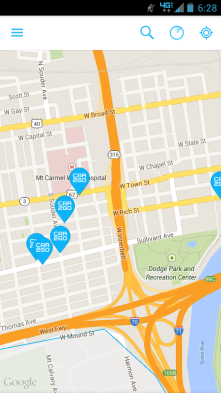 Car2Go is partially map based. It uses GPS to show on a map the locations of available cars.