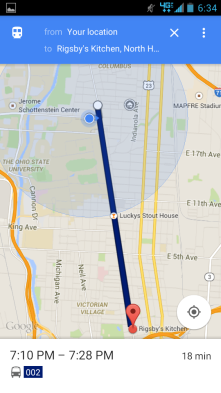Google maps is an obvious choice for map-based apps but it's one I use most often, especially for public transit.