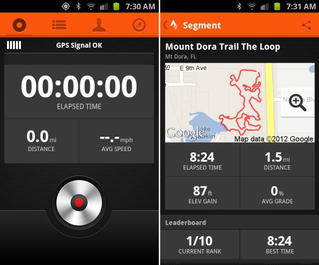 I use strava to track where I ride my bike.