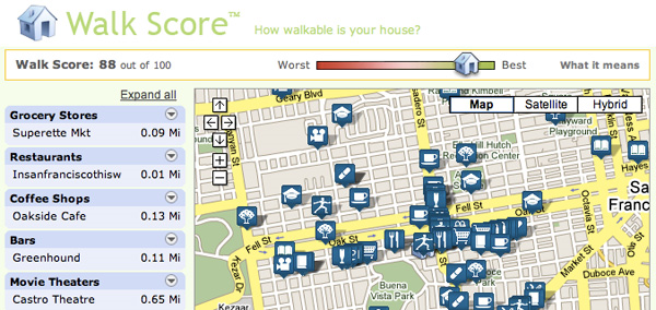 Walkscore.com..... Great for apartment hunting!