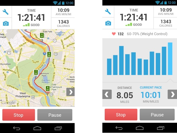 Runkeeper is an app designed for Android and iOS, and is a free application.  It can be used to track routes and fitness level.