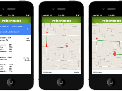 Designing a Pedestrian Friendly Mobile App
