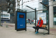 I think this can also be considered as technology, one of my fav bus stop ads :D When you sit on the bench, it displays your weight :D