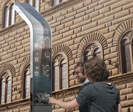 Smart Bus Stop. Florence.Italy.