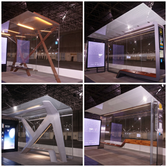 New bus stops in Sao Paulo have high-tech designs and ads help paying the project.